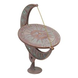 Whitehall Products 01273 Sun and Moon Sundial Copper Verdi