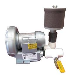 Gast 1/3 HP Regenerative Blower with Filter and Bleed Valve
