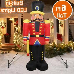 1.8m Outdoor Christmas Inflatable Nutcracker Blow-Up Decorat