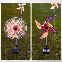 1-8X 32LED Solar Wind Spinner Kinetic Outdoor Lawn Light Gar