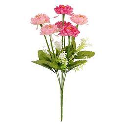 MagiDeal 1 Bunch Fake Snow Lotus Artificial Flower Bouquet H