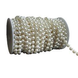 1 <font><b>yard</b></font> * 10 mm Large Ivory Pearls Faux C