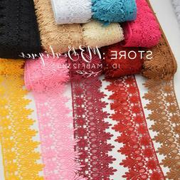 1 yard crochet lace trim ribbon wedding