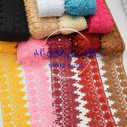 1 Yard, Crochet Lace Trim Ribbon Wedding Applique Dress Sewi
