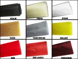 "1 YARD ORGANZA Bolt Fabric SHEER Nylon 50"" Wide Craft Party"
