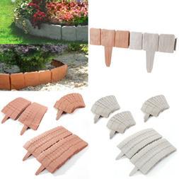10-30 Gray Cobbled Stone Effect Plastic Garden Lawn Edging P