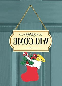 10 Pieces Set Interchangable Multi Holiday Welcome Sign Deco