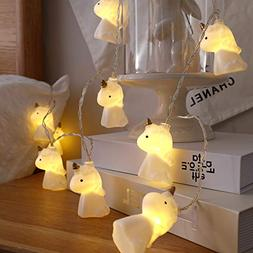 10 LED Children's Room Cute Animal Unicorn LED String Lights