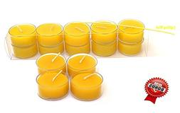 100% Pure Original Refined Beeswax Tea Light Candles with Sp