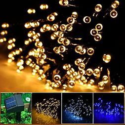 Sogrand 100 LED Solar String Lights, 55-Feet