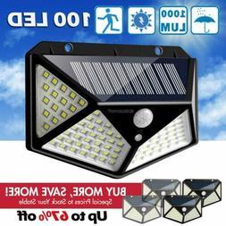 100LED Solar Lights Outdoor Wireless Motion Sensor Wall Yard