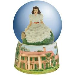 100mm Gone with the Wind Water Globe with White Dress Scarle