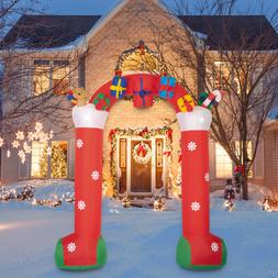 10FT Christmas Inflatable Archway with Gift Boxes and Bear L