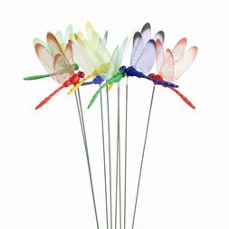 10pcs Artificial Dragonfly Butterfly Garden Decorations Simu