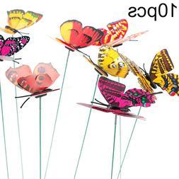 10Pcs Butterflies Homes Garden Decoration Outdoor <font><b>Y