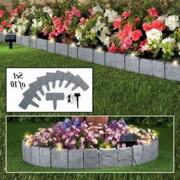 10X Garden Border Edging Fence Stone Lawn Yard Flower Bed De