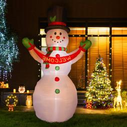Glitzhome 11.81FT Snowman Welcome Christmas Light Inflatable
