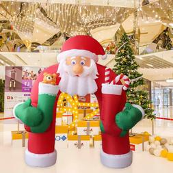 11' Christmas Huge Inflatable Santa Arch Archway Blown Air