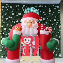 11 Foot Tall Lighted Christmas Inflatable Santa Archway Yard