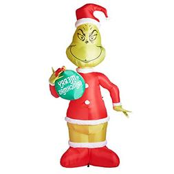 Gemmy 11 Ft Grinch with Ornament Airblown Lighted Christmas