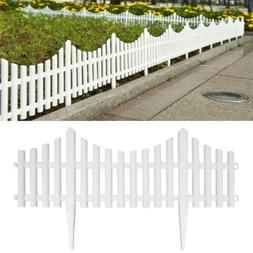 12/24pack Plastic Fence Panel Garden Border Landscape Edging