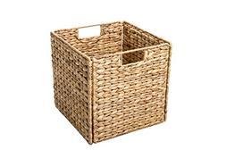 "Trademark Innovations 12"" Foldable Hyacinth Storage Basket w"