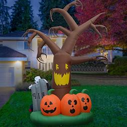 DIGIANT 12 Foot Halloween Inflatable Dead Tree Air Blown Spo