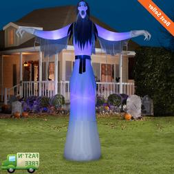 12' Lady Phantom Ghost Airblown Halloween Inflatable Reaper