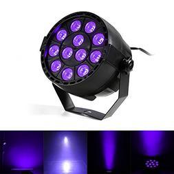 Gledto 36W 12 LEDs DJ Black Light UV LED Bar Wall Washer Lig