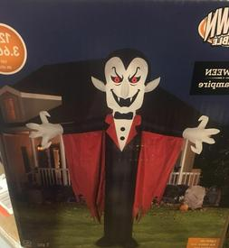 Gemmy 12' Tall Vampire Dracula with Cape Halloween Airblown
