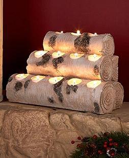 12-Tea Light Candleholder Log by GetSet2Save