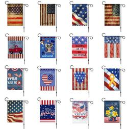 "12 x 18"" Stars Stripes Patriotic USA Welcome Garden House Fl"
