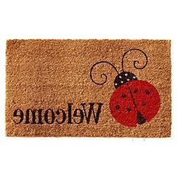 """Home & More 121431729 Ladybug Welcome Doormat, 17"""" x 29"""" x 0"""