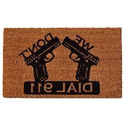 """Home & More 121511729 Dial 911 Doormat, 17"""" x 29"""" x 0.60"""", N"""