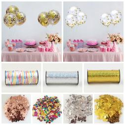 12inch Confetti Balloons Birthday Party Decor 100yards Satin