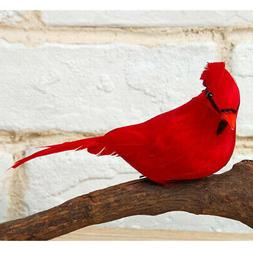 12pcs Foam Feathered Birds Collectible Figurines Crafts for