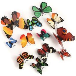 12PCS/Lot Artificial Butterfly Garden Decorations Simulation