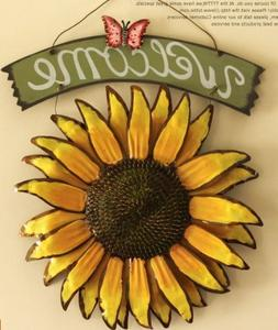 Bonlting 12x15 Vintage Hanging Butterfly Sunflower Welcome S