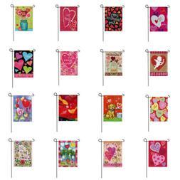 """12x18"""" Valentine's Day Garden Flag Hearts Outdoor Yard Lawn"""