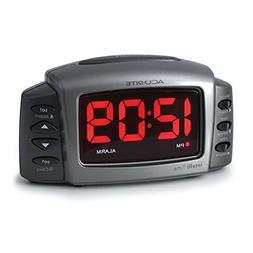 AcuRite 13030 Intelli-Time Alarm Clock with Adjustable Volum