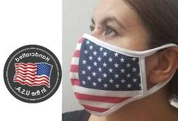 137 American Flag 4th of July USA MADE Face Mask SOFT double