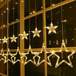 138 LED Light String With 12 Stars Light Curtain Light Net W