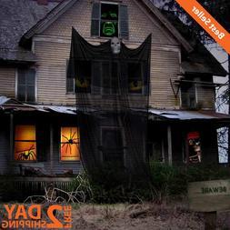 14' Hanging Halloween Ghost Huge Cloth W/ Ghost Skeleton Mas