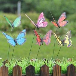 15pcs artificial butterfly garden decorations simulation sta