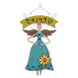 "Glitzhome 16""H Handmade Wooden Fairy Angel Wall Hanging Spri"