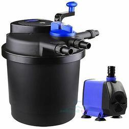 1600 Gal Pressure Pond Filter w/ 13W UV Sterilizer Koi Fish+