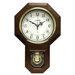 "Timekeeper 17.5"" x 11.25"" Essex Westminster Chime Faux Wood"