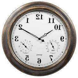 SkyNature 18 Inch Large Outdoor Wall Clock Waterproof with T