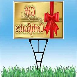 """18""""x24"""" GIFT CERTIFICATES Outdoor Yard Sign & Stake Lawn Hol"""