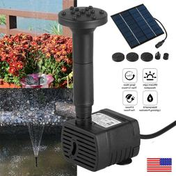 180L/H Solar Powered Water Pump Yard Garden Fountain Fish Aq